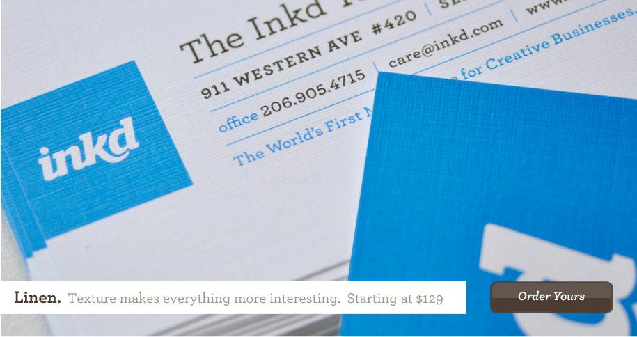 Linen Business Cards. A Distinctive Texture Feels Exclusive!